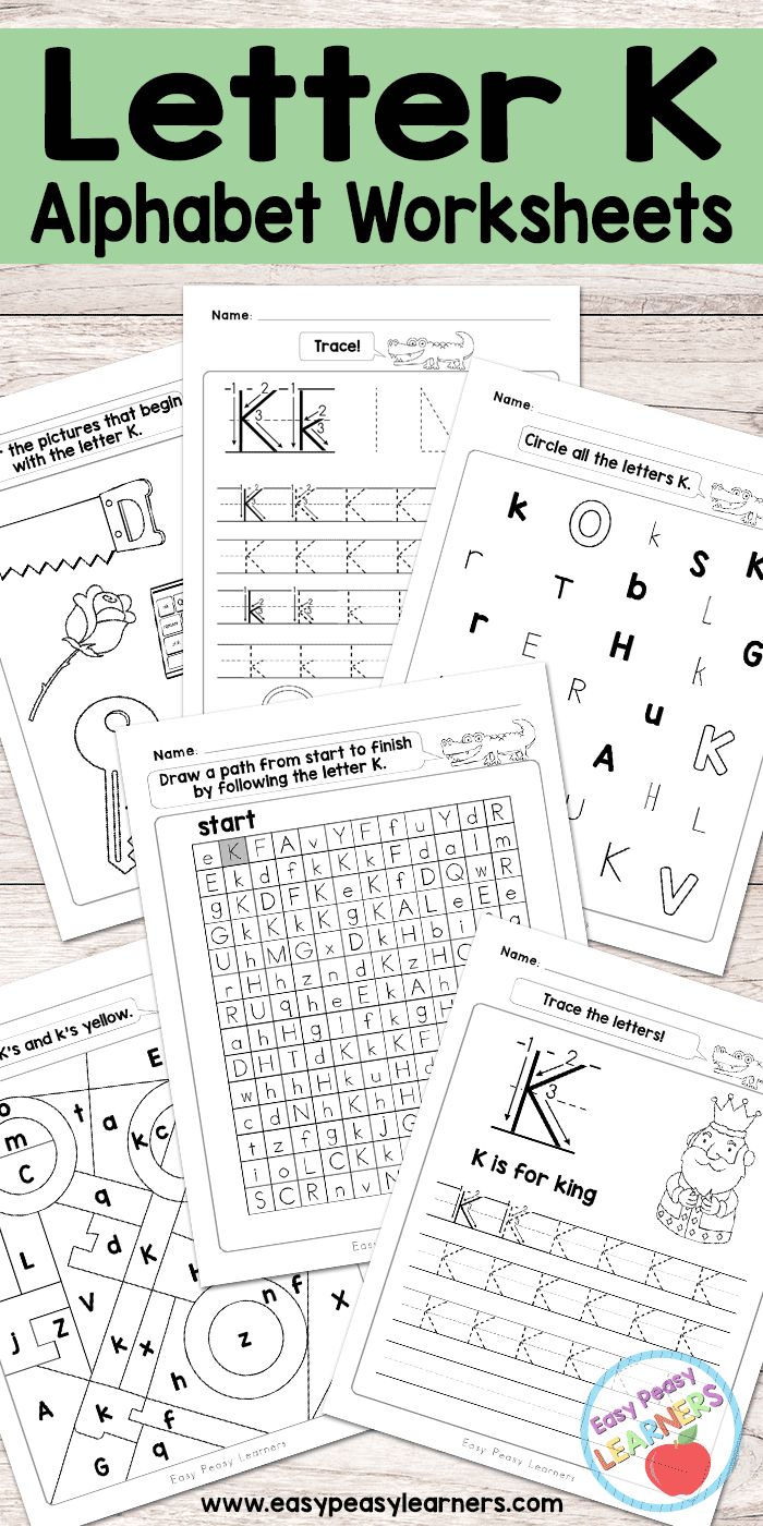 free printable letter k worksheets alphabet worksheets series free printables for kids. Black Bedroom Furniture Sets. Home Design Ideas