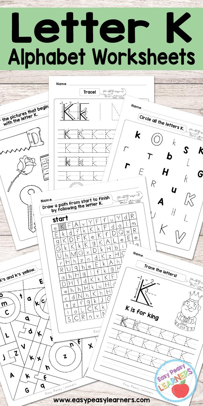 Free Printable Letter K Worksheets Alphabet Worksheets