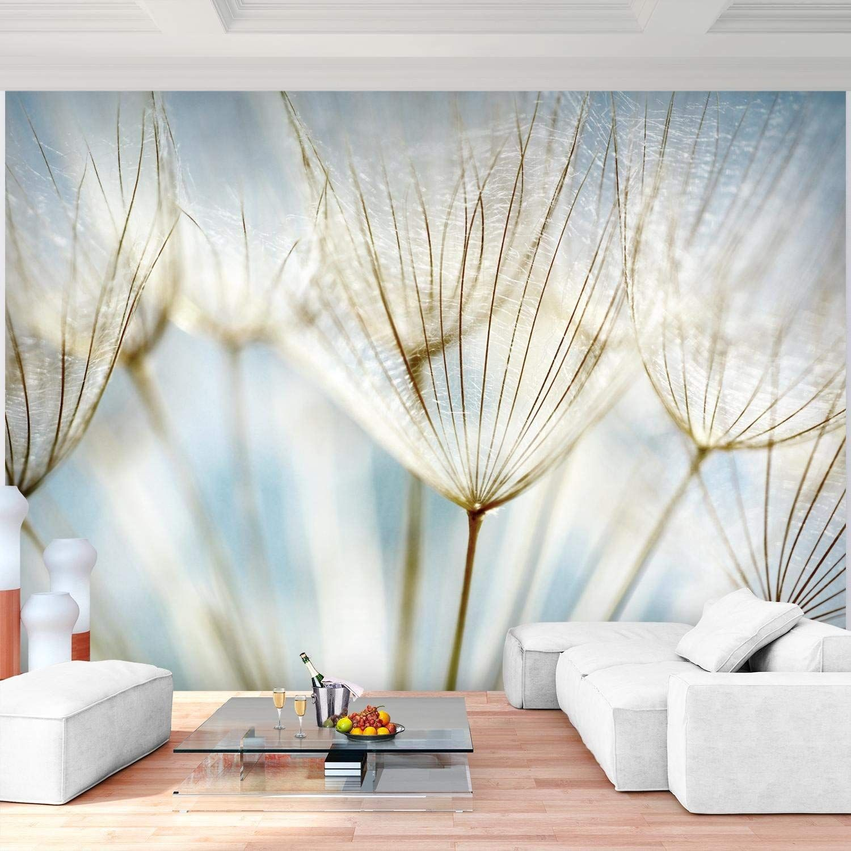 Fototapete Pusteblumen Blau 352 x 250 cm Vlies Wand Tapete ...
