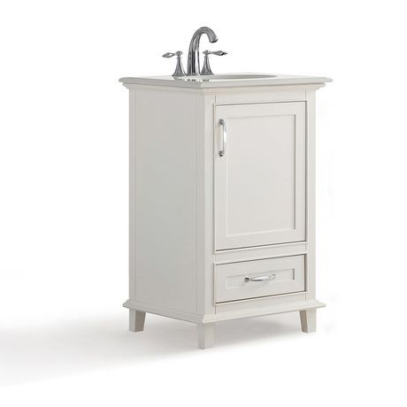 Wyndenhall Newton 20 Bath Vanity With Bombay White Quartz Marble Top Soft White White Vanity Bathroom Bath Vanities Vanity