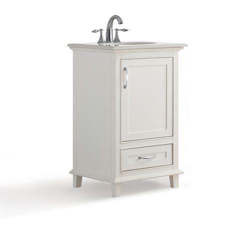 Wyndenhall Newton 20 Bath Vanity With Bombay White Quartz Marble Top Soft White White Vanity Bathroom Bath Vanities Vanity