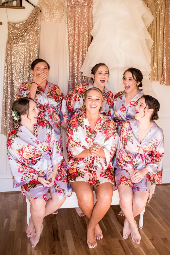 Bridesmaids and laughter Wedding Day Joy