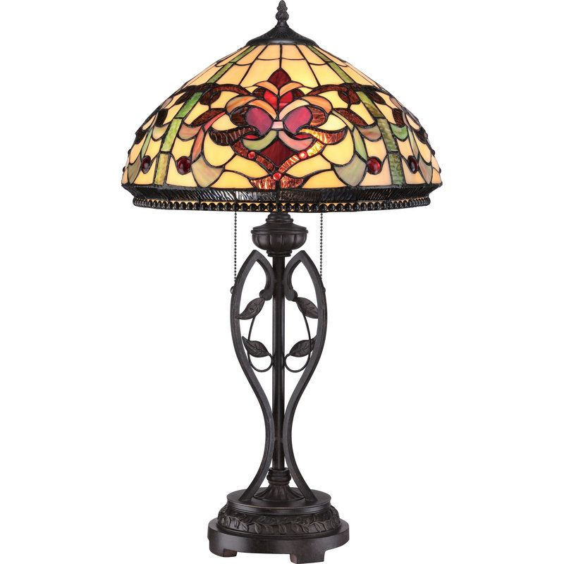 "View the Quoizel TF1790T Tiffany 2 Light 27"" Tall Table"