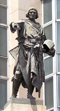 Estatua que representa a Diego López V de Haro, señor de Vizcaya. Bilbao.