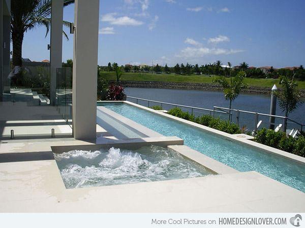 Modern Lap Pool Raised Lap Pool Swimming Pool Shades Of Green