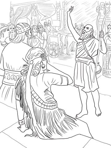 Jonah in Nineveh coloring page from Minor prophets category. Select ...