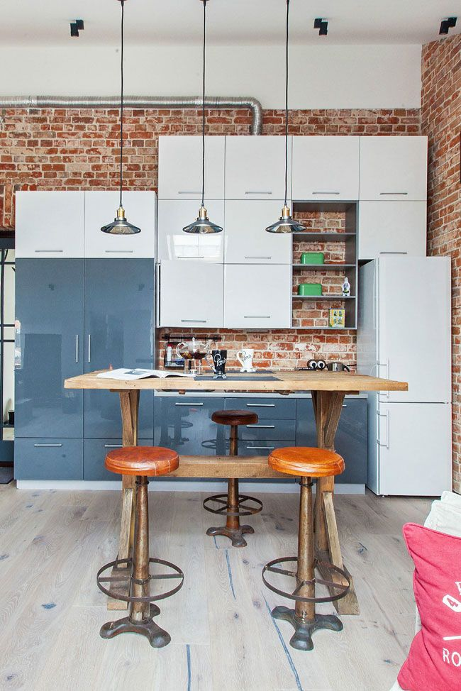 Attrayant Explore Exposed Brick Kitchen, Brick Wall, And More! Small Loft ...