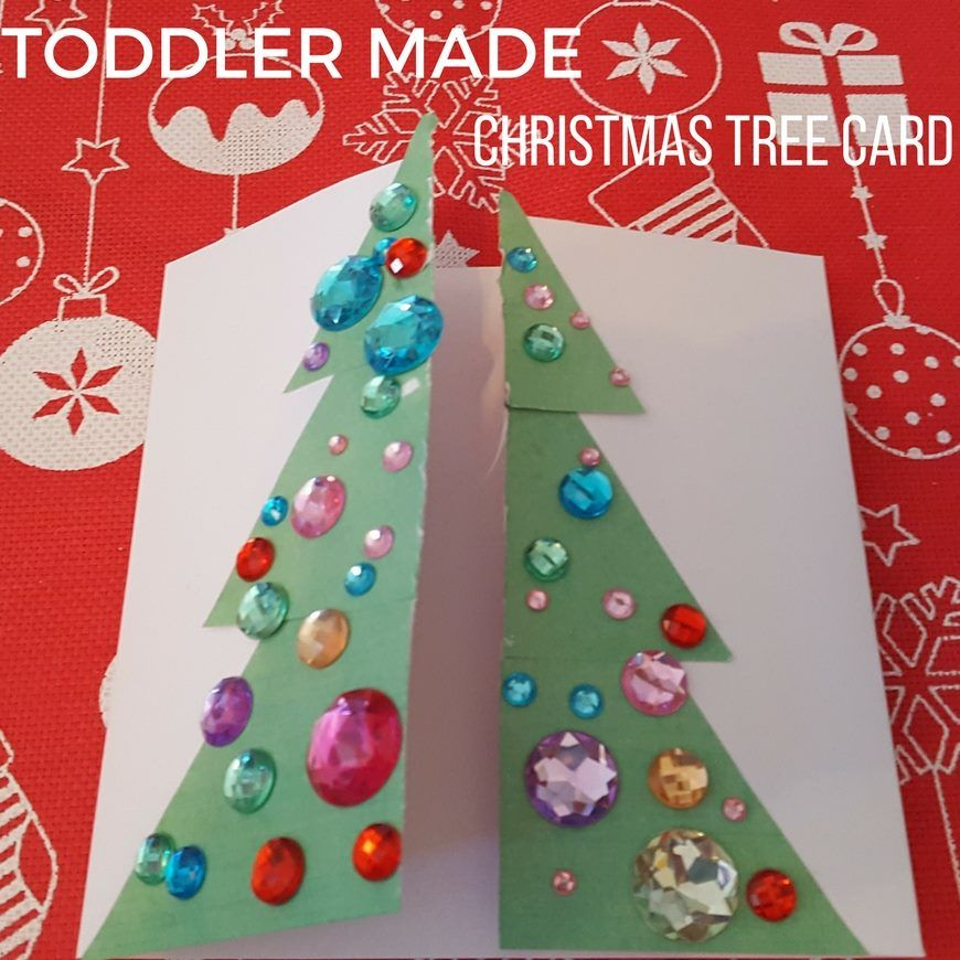 Christmas Tree Decorations For Kids To Make: Toddler Made Christmas Tree Card