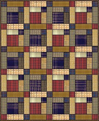 Scots Plaid quilt - could be made from men's dress shirt | Quilts ... : plaid quilt pattern - Adamdwight.com