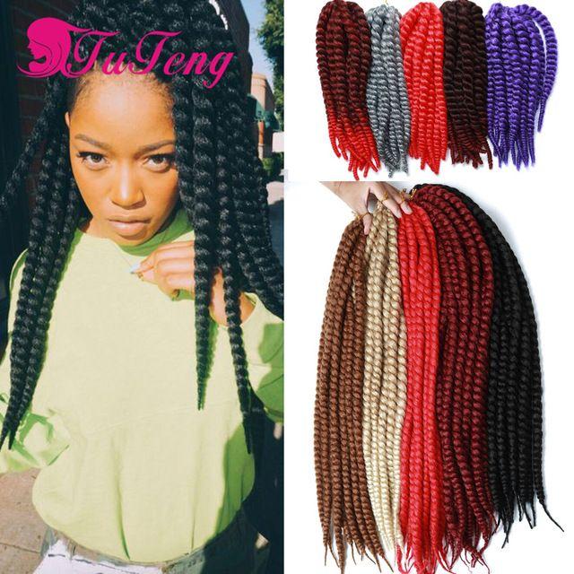 Havana Mambo Twist Woman Hair Crochet Braids 22 Inch Havana Mambo