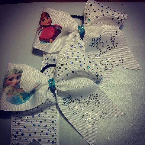 Frozen Big Sis Lil Sis Bows. $20