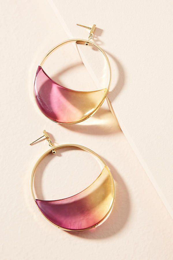 Gemology Lucite Luna Drop Earrings