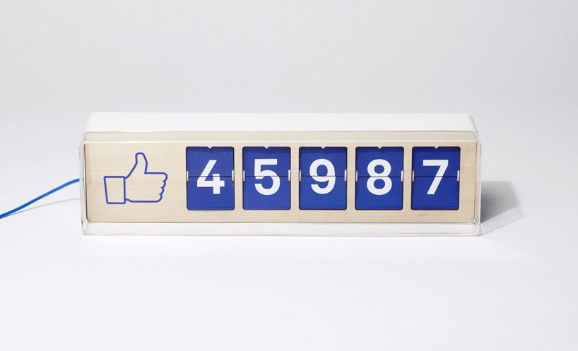 fliike real-time facebook like counter by smiirl electronics - designer gerat smiirl facebook fans