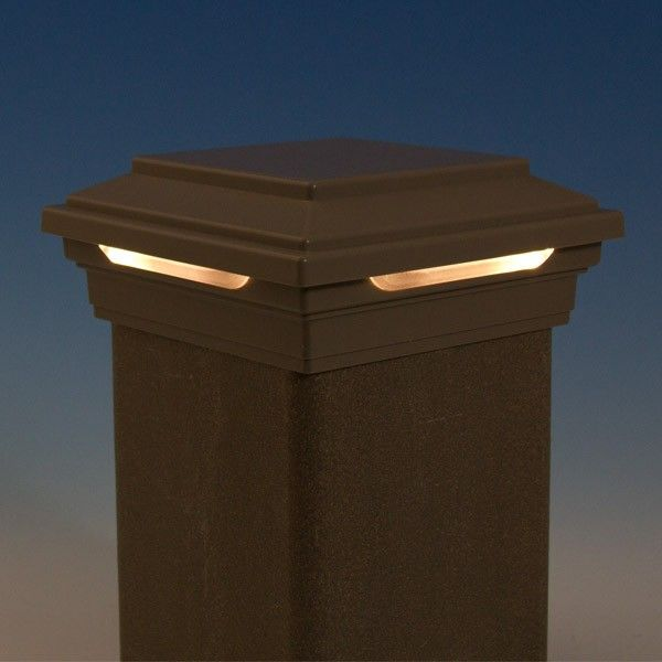 Led deck lighting decksdirect led flat post cap light by led deck lighting decksdirect led flat post cap light by trex deck aloadofball Gallery
