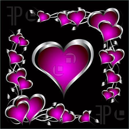 Purple-Valentines-Hearts-1719711.jpg (450×450) | *PERFECTLY PINK ...