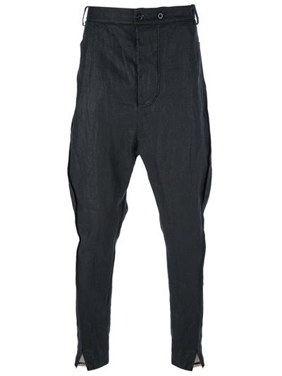LOST AND FOUND Ruched Dropped Crotch Trouser