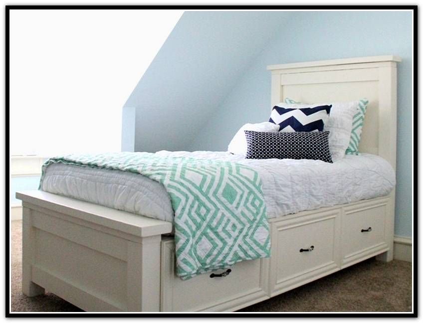 Beauty Twin Bed With Storage Drawers