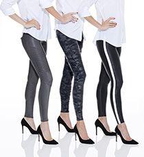 5fd255c8d9ebfd Faux Leather Side Stripe Leggings | Fall/Winter 2018 | Camo leggings ...