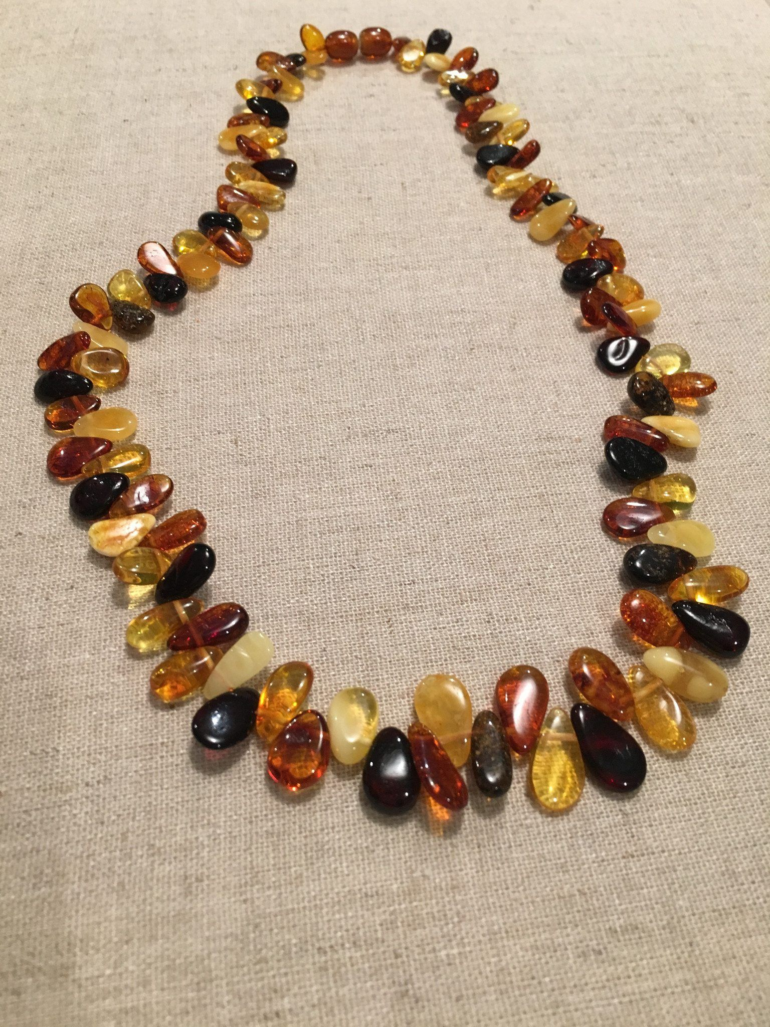 Raw genuine Baltic amber necklace 17.3 inch