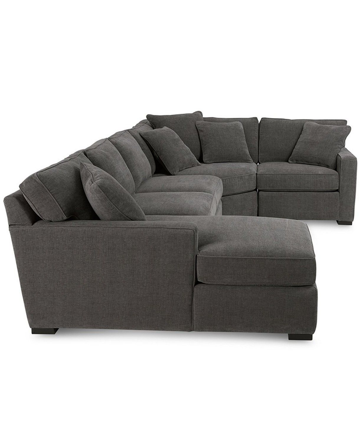 Furniture Radley 4 Piece Fabric Chaise Sectional Sofa Created For Macy S Reviews Furniture Macy S In 2020 Sectional Sofa Comfy Grey Sectional Sofa Comfy Sectional