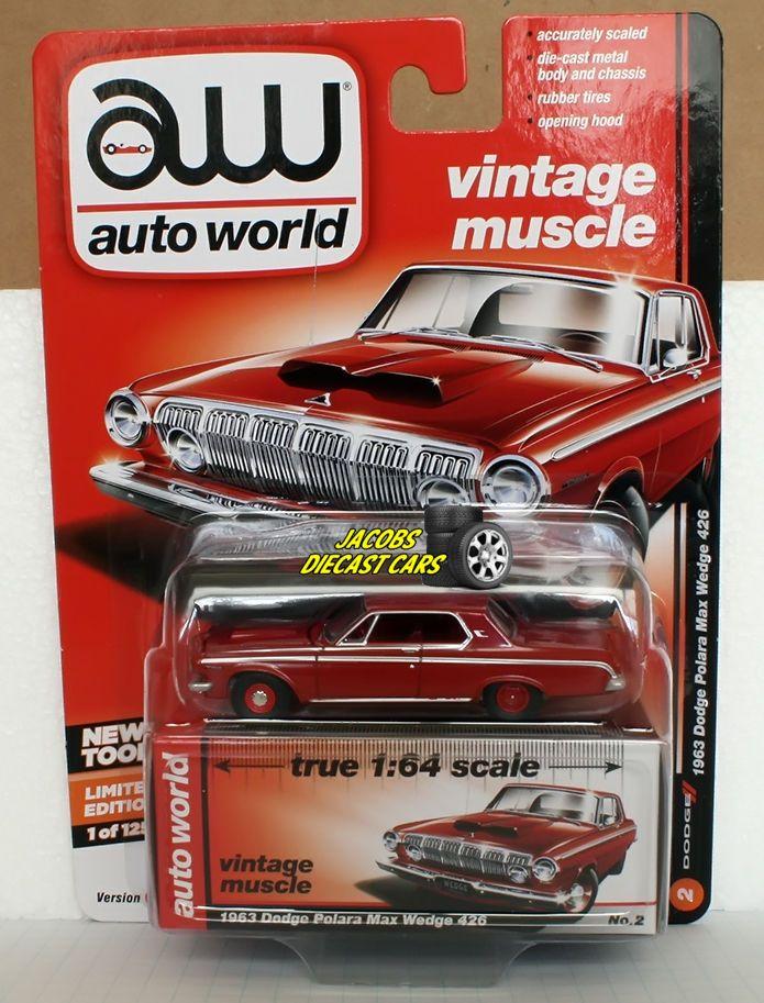 1:64 AUTO WORLD PREMIUM 2017 1963 DODGE POLARA MAX WEDGE 426 Release ...