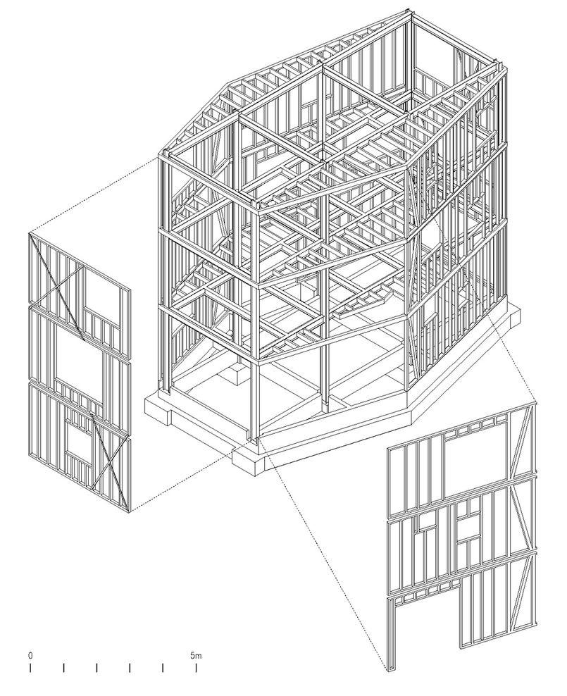 architecture drawing axonometric structure | Axonometric