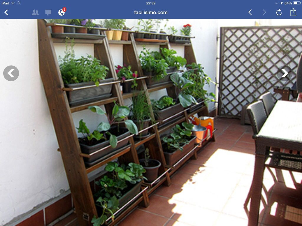 Idea de jard n para patio peque o decoraci n pinterest for Deco jardin pequeno