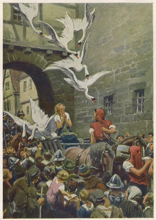 The Wild Swans Paul Hey Fairytale Illustration