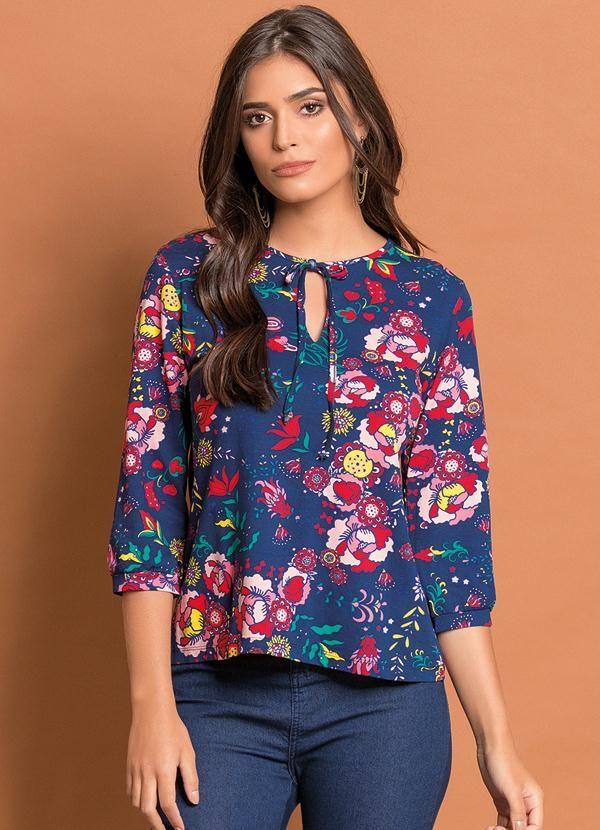 511aaab274 Blusa com Amarração no Decote Branca - Compre em até sem juros na loja Quintess  Outlet