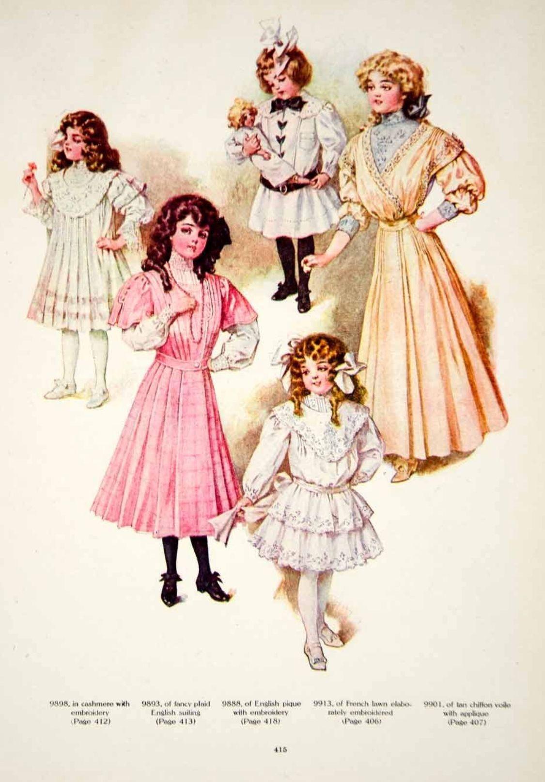 Early 1900s girls' dresses | Kids fashion, Childrens fashion ...