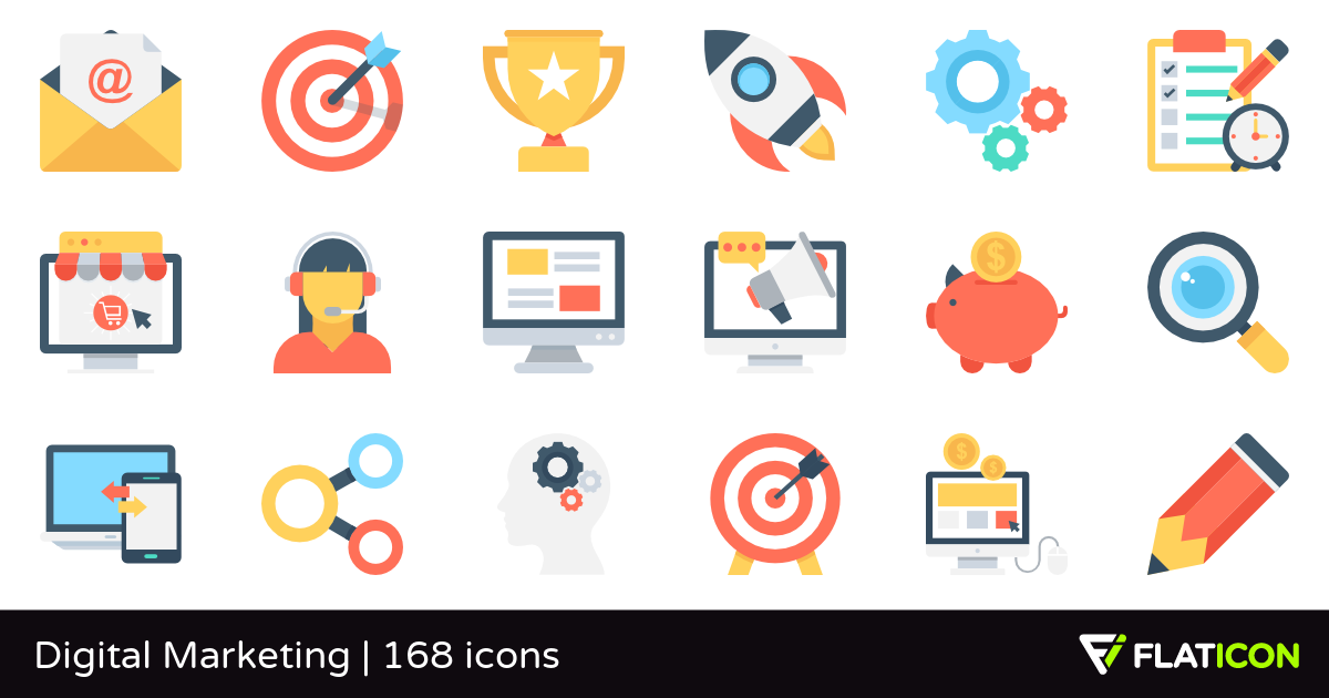 165 free vector icons of digital marketing designed by vectors market in 2020 digital marketing design digital marketing marketing design 165 free vector icons of digital