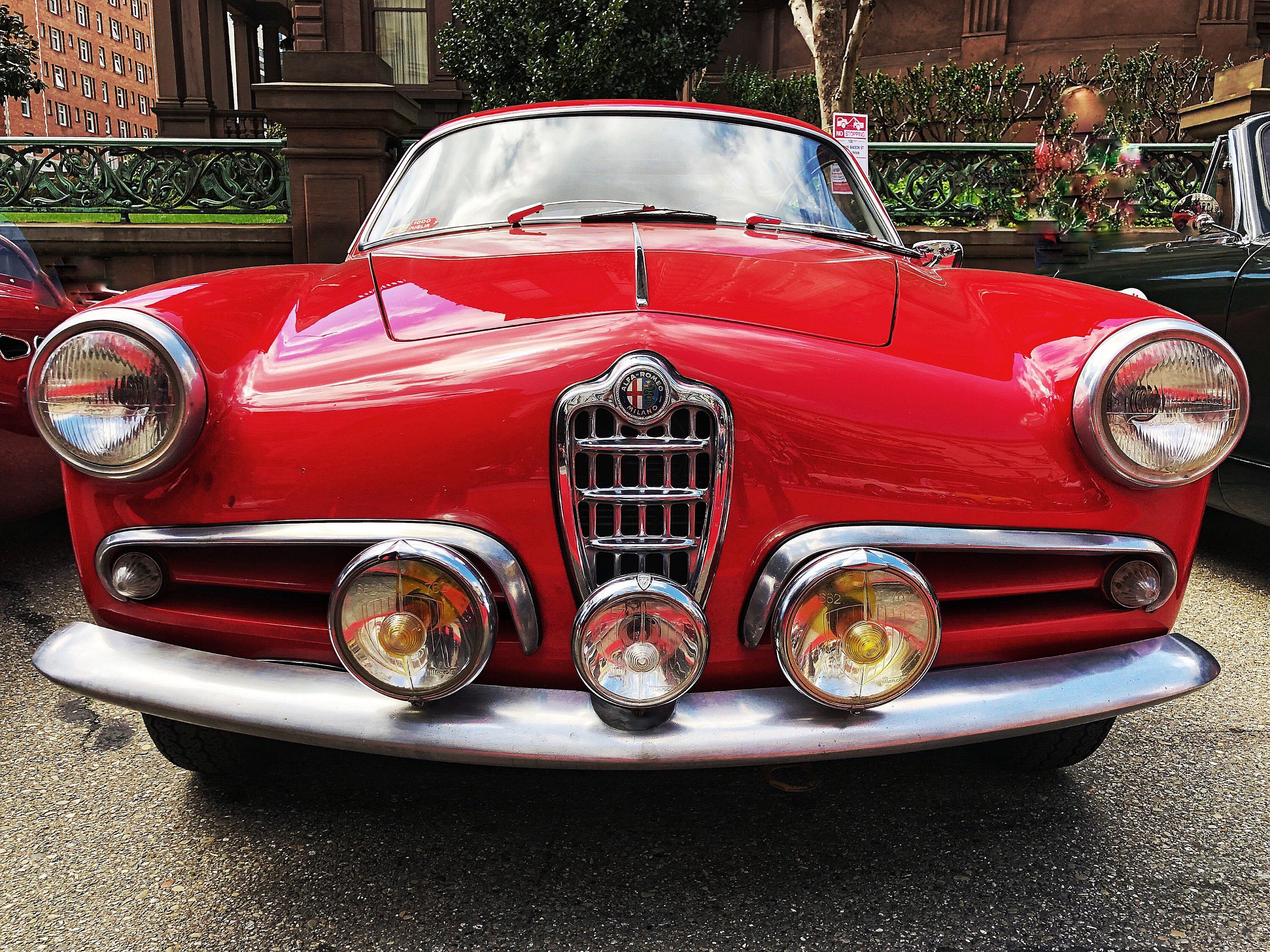 Alfa | Alfa Romeo | Red Classic Car | Italian Roadster | Fine Art | Restaurant Décor | Hotel Décor | Automotive Art