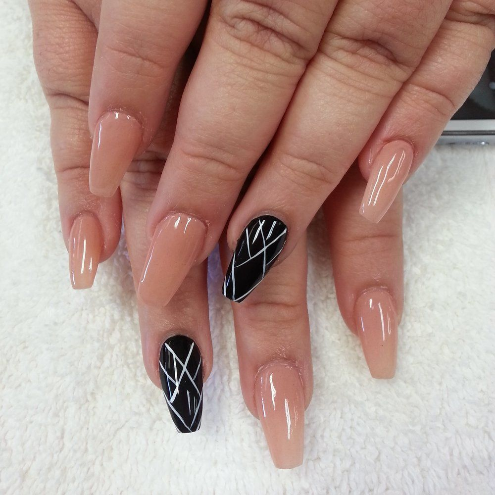 ballerina coffin nails | Nailicious Nails....... | Pinterest