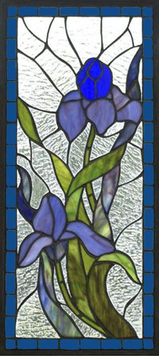 iris glass panel