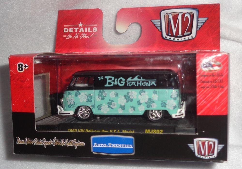 M2 MACHINES 1:64 MiJo Toys 1960 VW VOLKSWAGEN Delivery Van USA Model BIG Kahuna