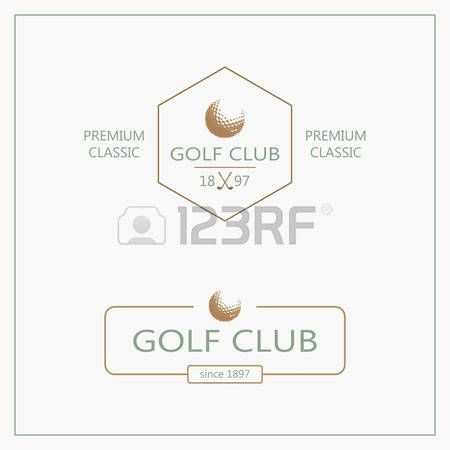 golf club: Vector design element with business card