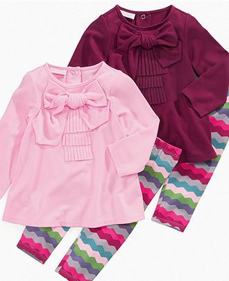 First Impressions Baby Set, Baby Girls Tunic and Rainbow Leggings - Kids Baby Girl (0-24 months) - Macy's
