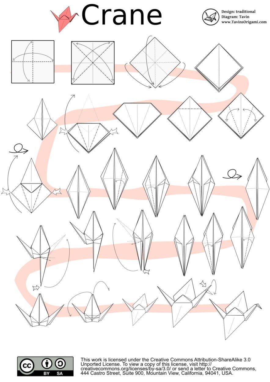 How To Origami Crane Origami Crane Instructions Tavins
