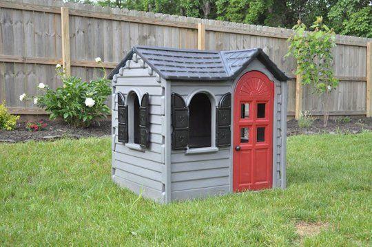 5 little tikes playhouse refresh projects jardin cabane enfant salle de jeux et maison. Black Bedroom Furniture Sets. Home Design Ideas