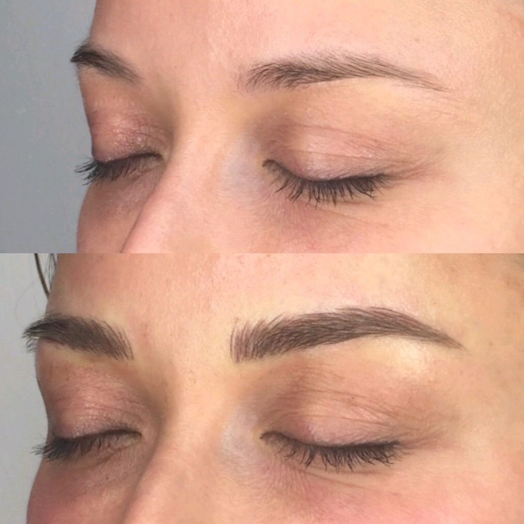 Before after eyebrows microblading eyebrows