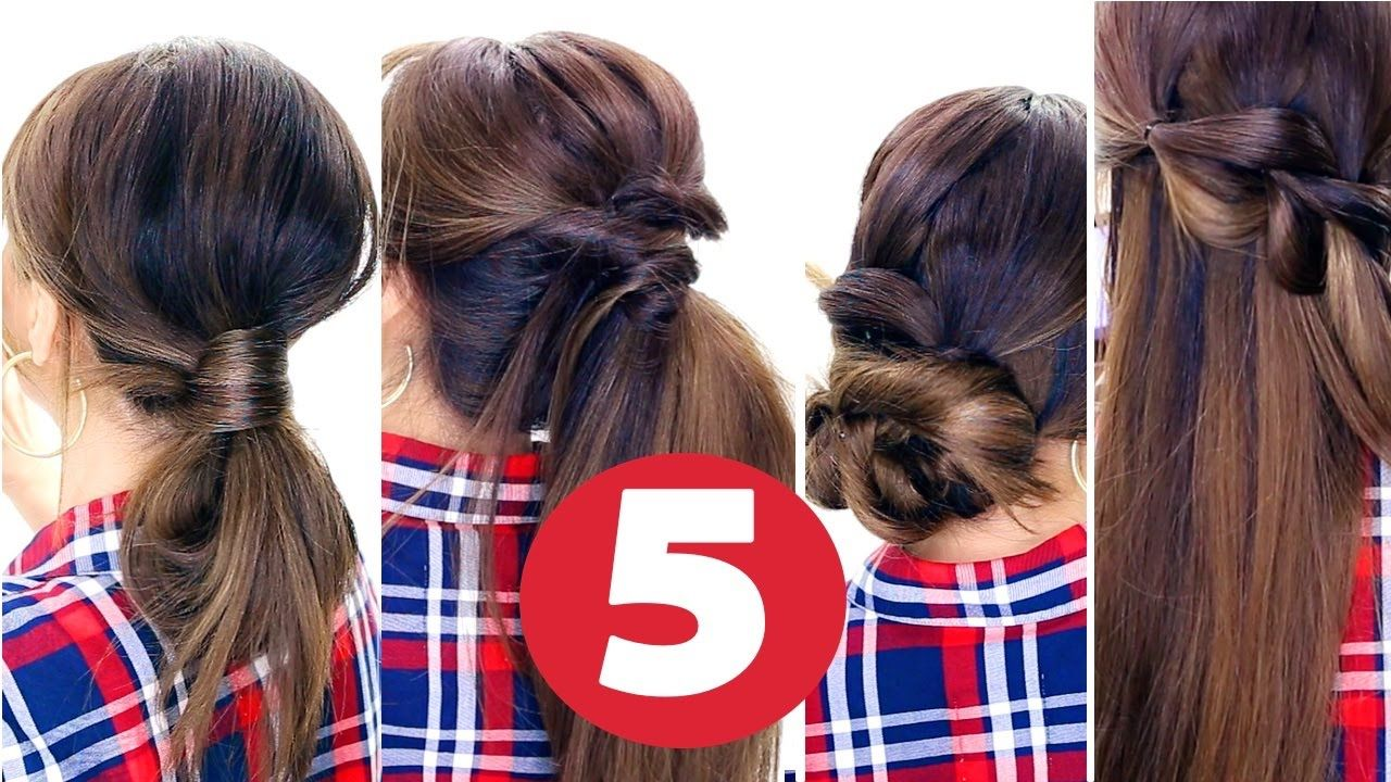 easy lazy hairstyles everyday cute hairstyles hairstyles
