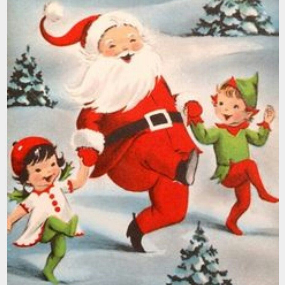 Only 8 More Days Until Santa Comes To Town There S Still Time For Those Last M Vintage Christmas Cards Vintage Christmas Greeting Cards Vintage Christmas