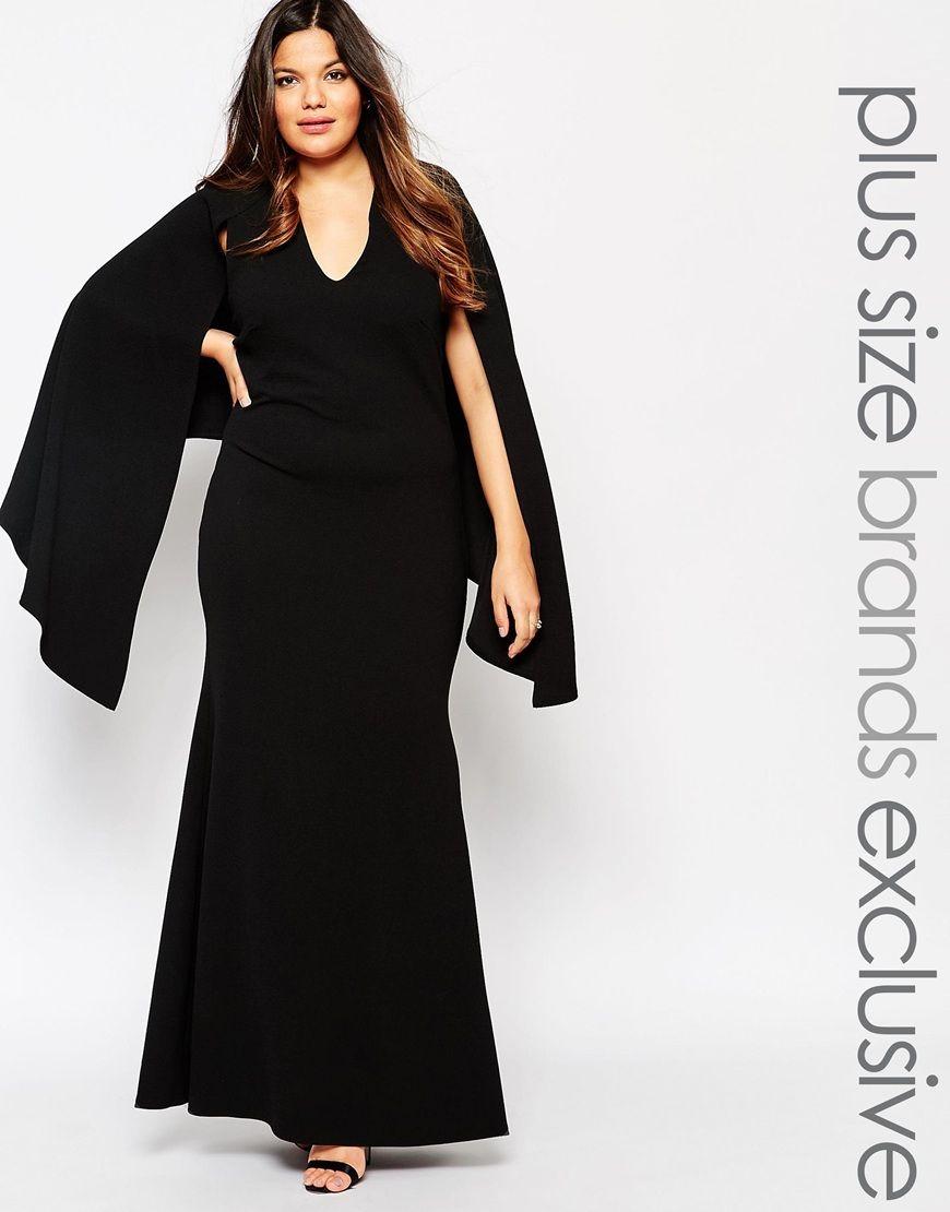 Club L Plus Cape Maxi Dress At Asos Com Maxi Dress Plus Size Fashion Plus Size Maxi Dresses [ 1110 x 870 Pixel ]