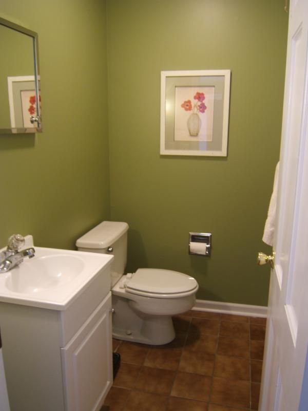 Image Of Green Bathroom with Modern and Cool Design Ideas