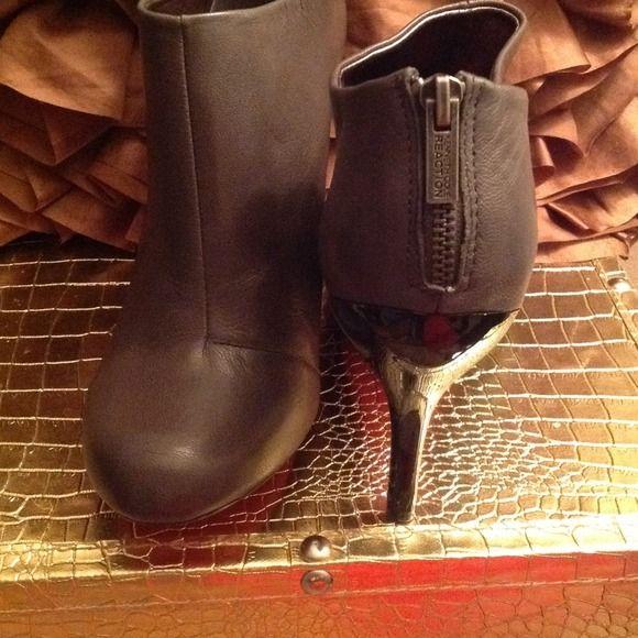 Brand New Gray Boots Brand New Gray Boots Kenneth Cole Reaction Shoes