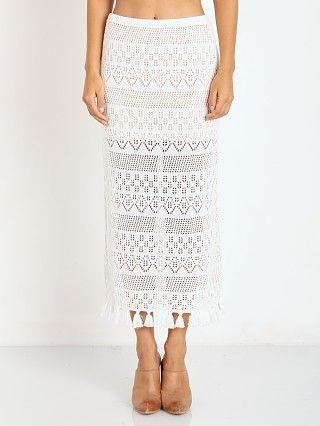 Winston White Cryprus Skirt Cream Crochet