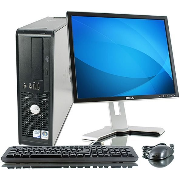 Dell Desktop Pc Computer Windows 7 3 4ghz Dual Core 4gb 17 Lcd Monitor Wifi Dvd Dell Desktop Computer Pc Computer Dell Desktop