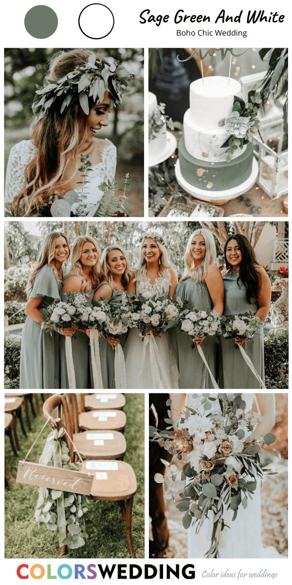 Top 8 Boho Chic Wedding Color Ideas