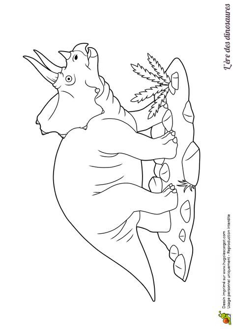 Coloriage Dinosaure Triceratops.Beau Dessin A Colorier D Un Dinosaure Triceratops Coloring