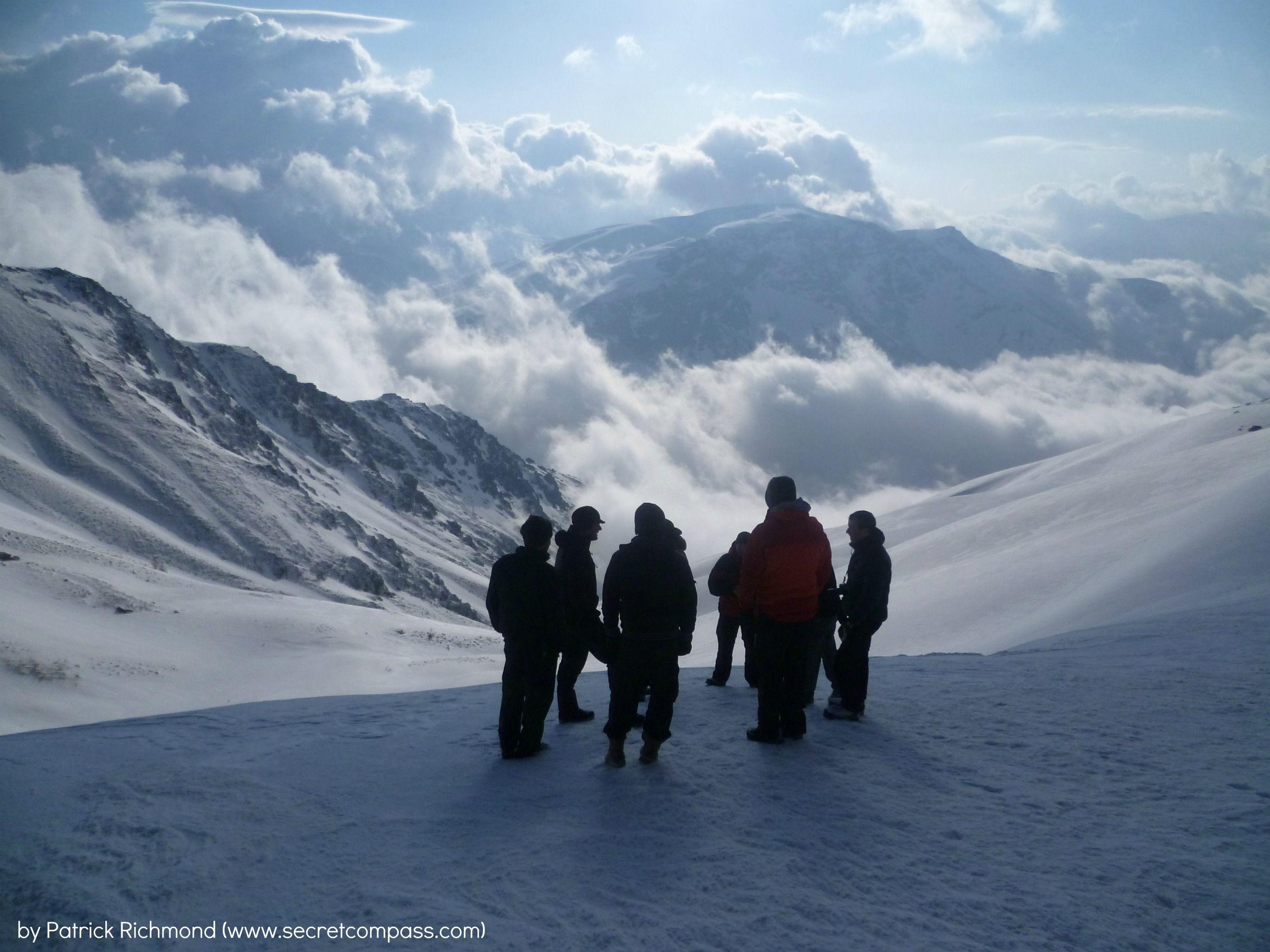 -15 on Mt Halgurd, Zagros Mountains, Northern Iraq. Secret Compass Expedition to Iraq, March 2012.